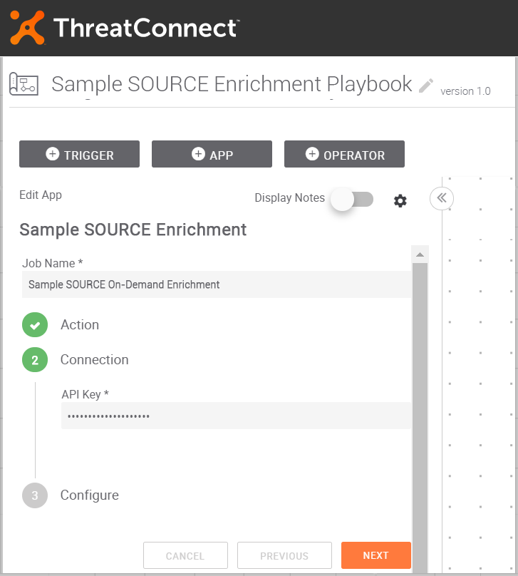 Provide API Key for the Intelligence Source on ThreatConnect